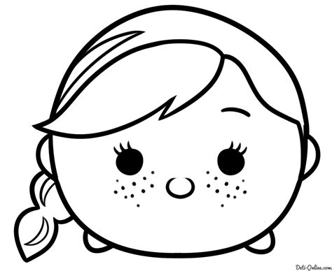 black tsum tsum olaf tsum tsum coloring pages black and white coloring pages