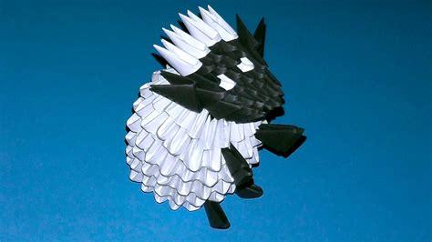 3d origami tutorial pinterest 3d origami shaun the sheep sheep ewe ram tutorial