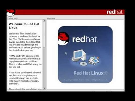 Red Hat Linux 9 Tutorial | installation tutorial red hat linux 9 youtube