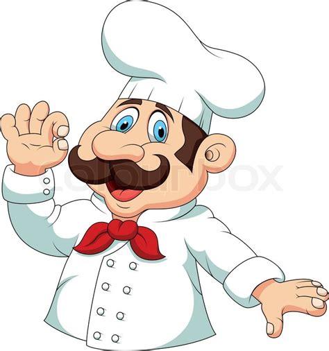 film kartun koki chef cartoon with quot ok quot sign stock vector colourbox
