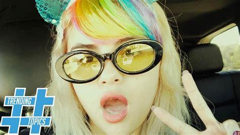 selena gomez goes full unicorn with rainbow bangs hs trending topics youtube