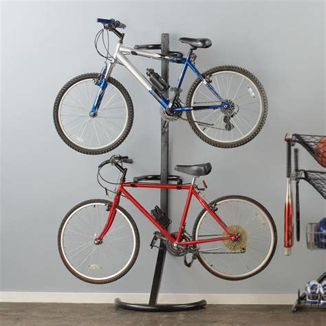 Bike Rack For Garage by Garage Stand Dual Bike Rack At Brookstone Buy Now