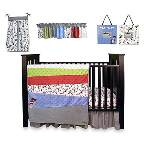 Dr Seuss Crib Bedding Sets Buy Dr Seuss Cat In The Hat 7 Crib Bedding Set From Bed Bath Beyond