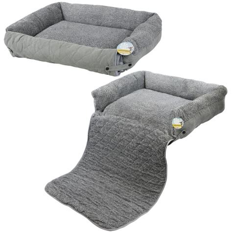 cat couch bed pet bed with sofa protector grey fleece me my pets