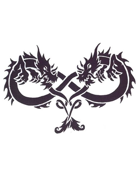 two dragons infinity shaped tattoo free design ideas