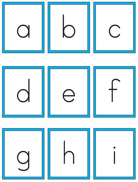 printable alphabet letter cards printable alphabet cards