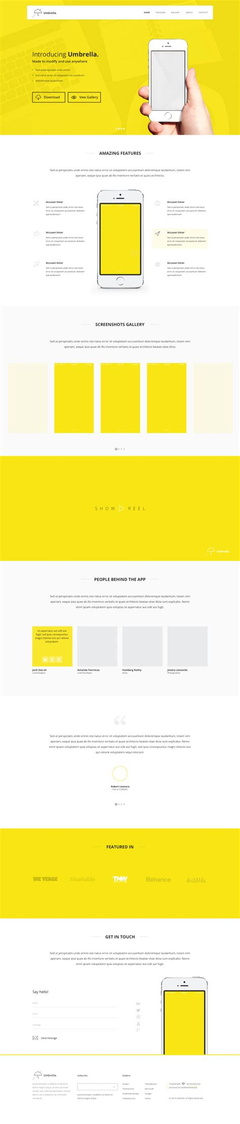 Yellow Style Website Template Creative Design Web Elements Psd File Free Download Yellow Pages Website Template Free