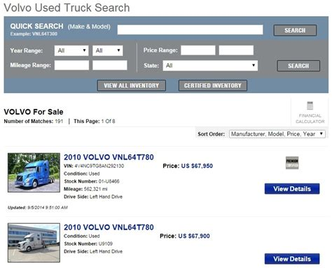 New Search Tool Volvo Unveils New Used Truck Search Tool Truck News