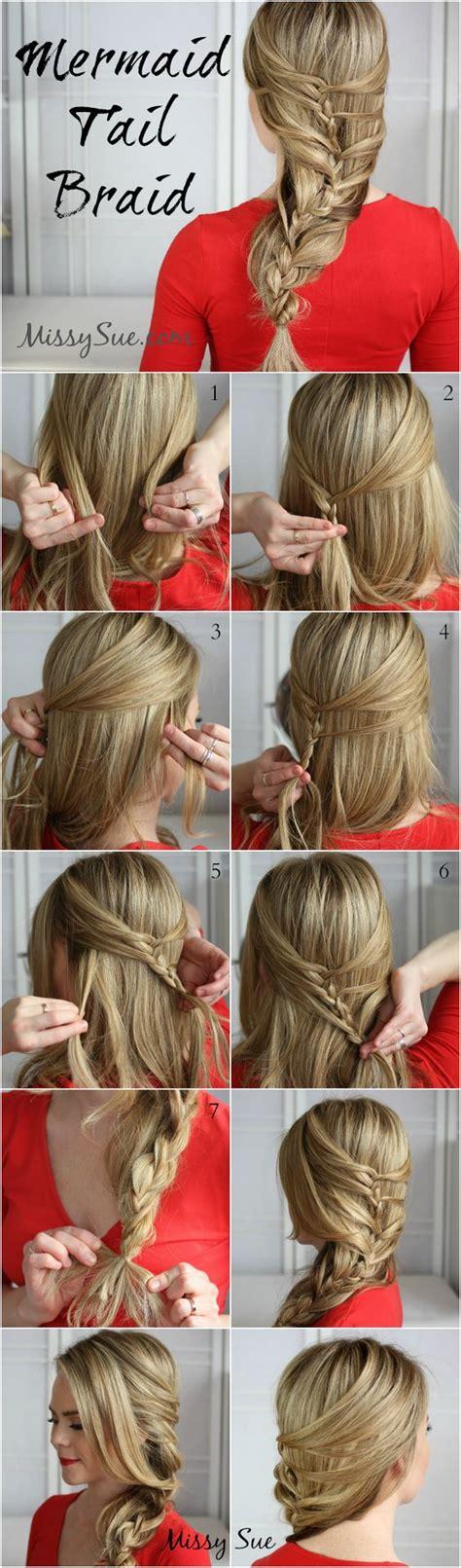 the ultimate mermaid braid step by step instructions 13 step by step hair tutorials to style a mermaid braid