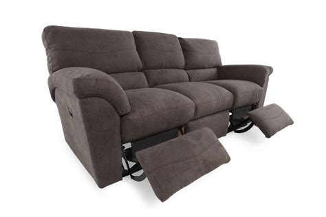 la z boy reclining sofa reviews la z boy reese granite reclining sofa mathis brothers