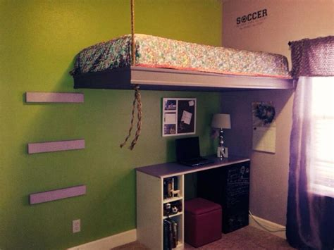 Bunk Beds Pinterest Suspended Bed Projects I Ve Done Pinterest Suspended Bed Room And Bedrooms