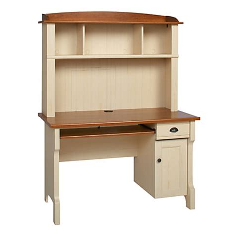 Office Depot White Desk Realspace Shore Mini Solutions Computer Desk With Hutch Antique White By Office Depot Officemax