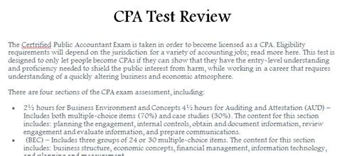 cpa exam sections cpa test review 187 template haven