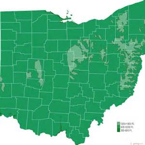 Topographical Map Of Ohio by Ohio Physical Map And Ohio Topographic Map