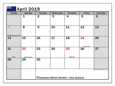 april  calendar  zealand michel zbinden en