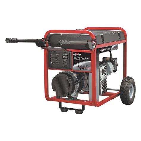 briggs stratton 030242 6200 watt portable generator