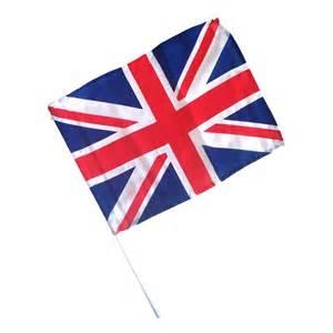union jack stick flag british 12 by 18 plastic stick sold