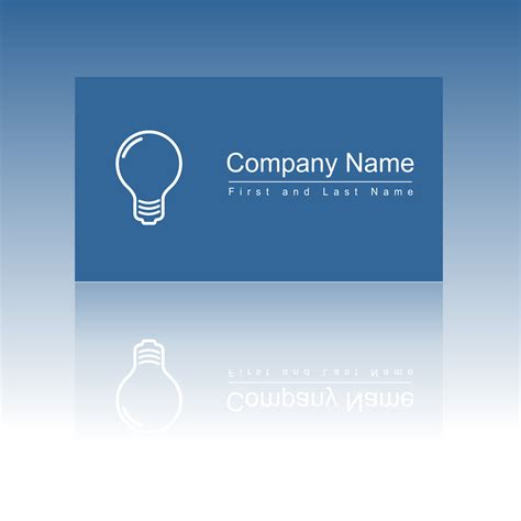 Card Template With Lights by Business Card Template Light Bulb Choice Image Card