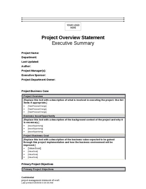 project management statement of work hashdoc