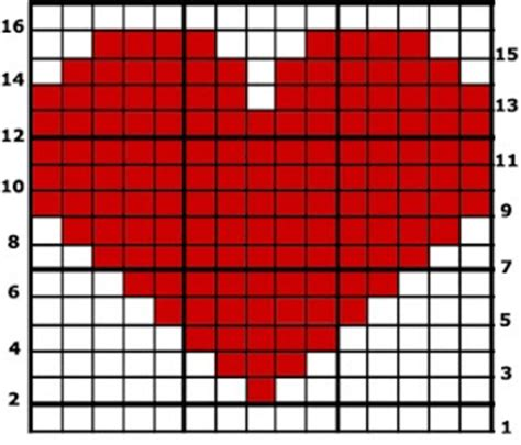 heart intarsia pattern how to crochet from a graph this technique is known as