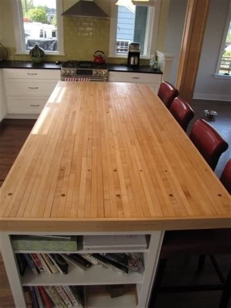 bowling lane bar top butcher block kitchen counter tops