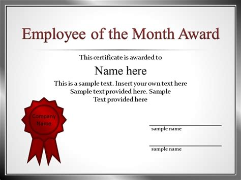 employee appreciation certificate templates employee recognition certificate template www imgkid