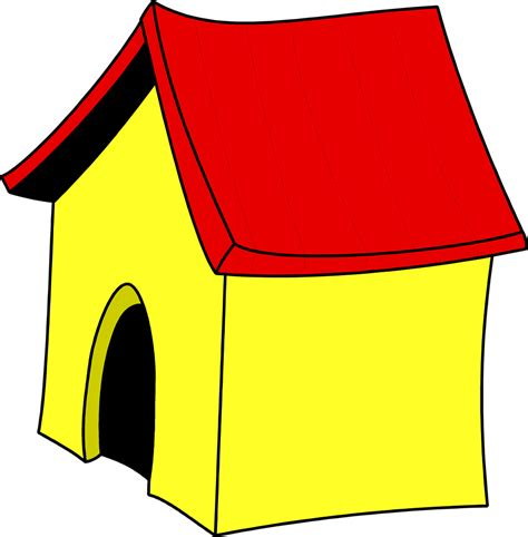 yellow dog house dog house free stock photo illustration of a yellow