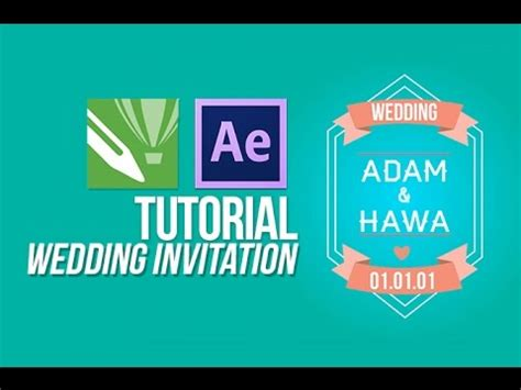 tutorial after effect wedding tutorial after effect wedding invitation youtube
