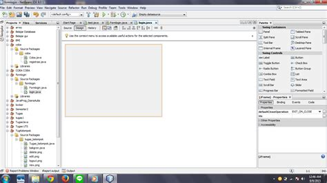 membuat form login netbeans merebeja com cara membuat form login di java netbeans