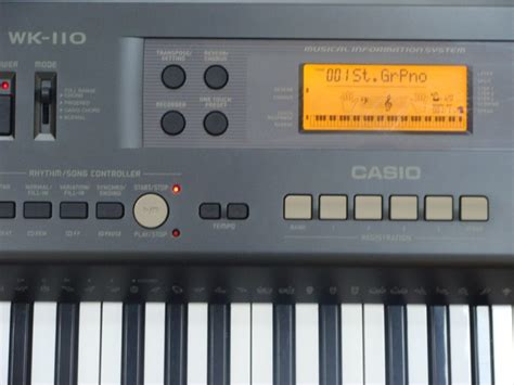Keyboard Casio Wk 110 casio wk 110 image 487362 audiofanzine