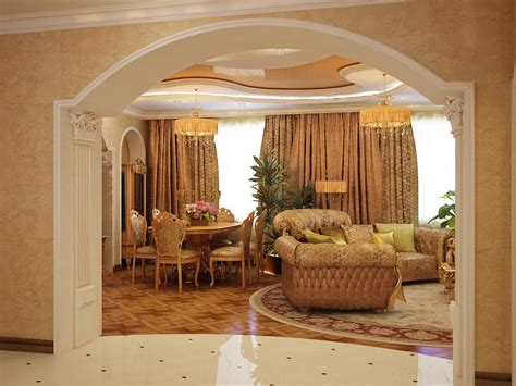 Home Design Gold Interior Design Gold Living Room Arch Yellow