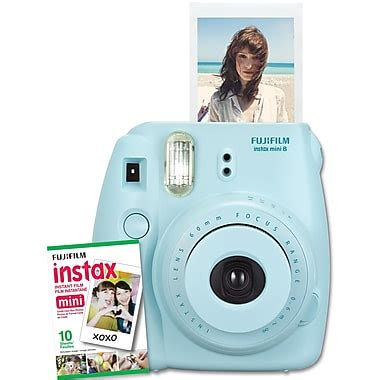 fujifilm instax mini 8 instant blue fujifilm instax mini 8 with 10 exposures blue