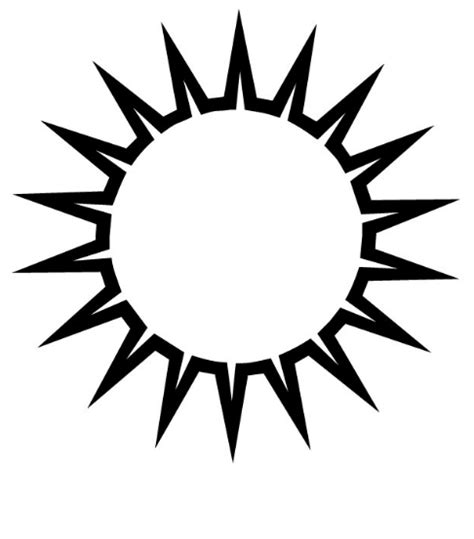 sun clipart black and white clipart for work