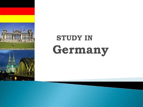 Free Mba Degree In Germany by Study In Germany Free Education In 30 State