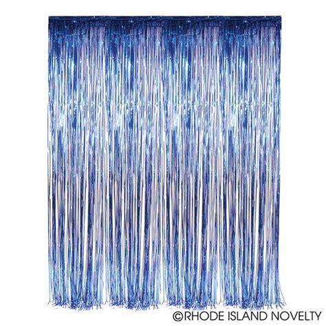 Foil Curtain Blue 2 5m foil fringe curtains blue 2
