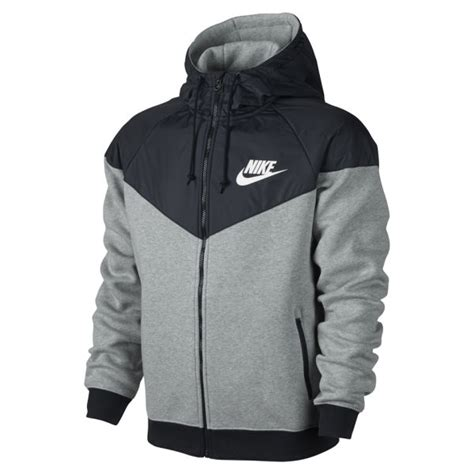 nike s windrunner fleece mix jacket grey