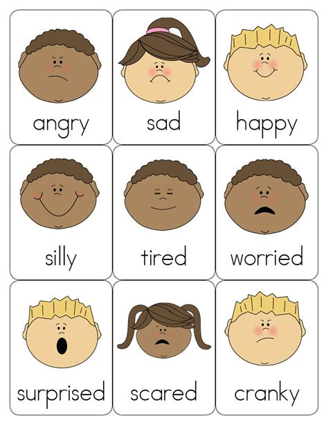 printable emotion faces chart 8 best images of feeling faces printables printable