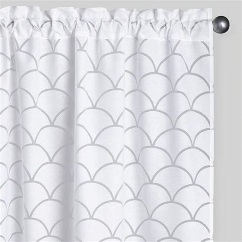 burnout curtain white wave burnout curtains set of 2 world market