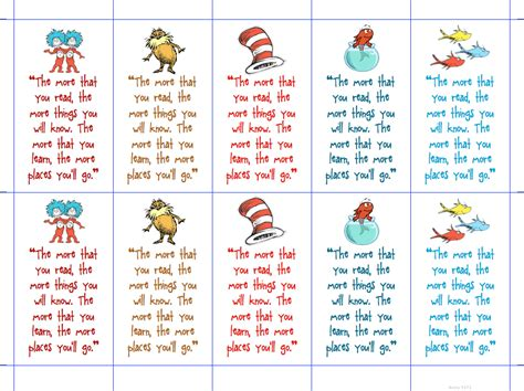 printable bookmarks with names printable dr seuss quotes quotesgram