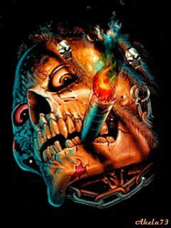 imagenes calaveras terrorificas gifs animados de calaveras terror 237 ficas gifmania