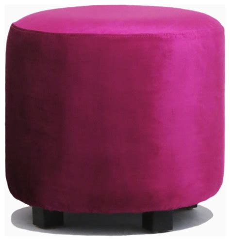 pink ottoman glam pink velvet ottoman contemporary footstools and