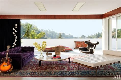 living room los angeles adam levine s hollywood hills home personal stylist