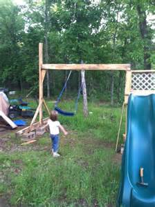 home made swing homemade swing and slide