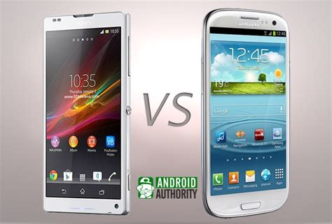 Hp Android Sony Xperia Zl samsung galaxy s3 versus sony xperia zl