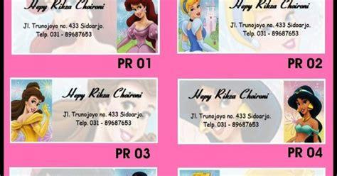 Custom 35 000 Cetak Foto Bebas Dari Katalog 2 princess stiker label nama