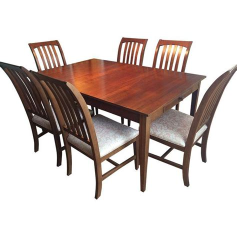 shaker dining set ethan allen shaker style dining set set of 7 chairish