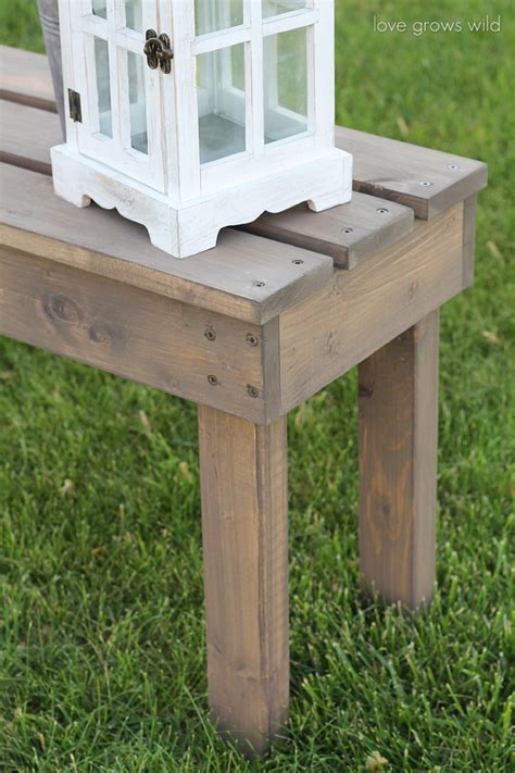 homemade wood bench easy diy outdoor bench love grows wild