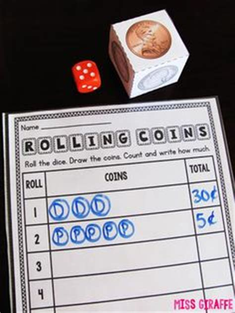 printable money dice first grade math on pinterest math centers addition and