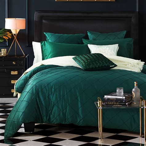 Floral Comforter Sets King Size Dark Green Bed Sheets Promotion Shop For Promotional Dark