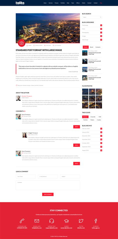 html 5 template tofito responsive one page html5 template by bareve